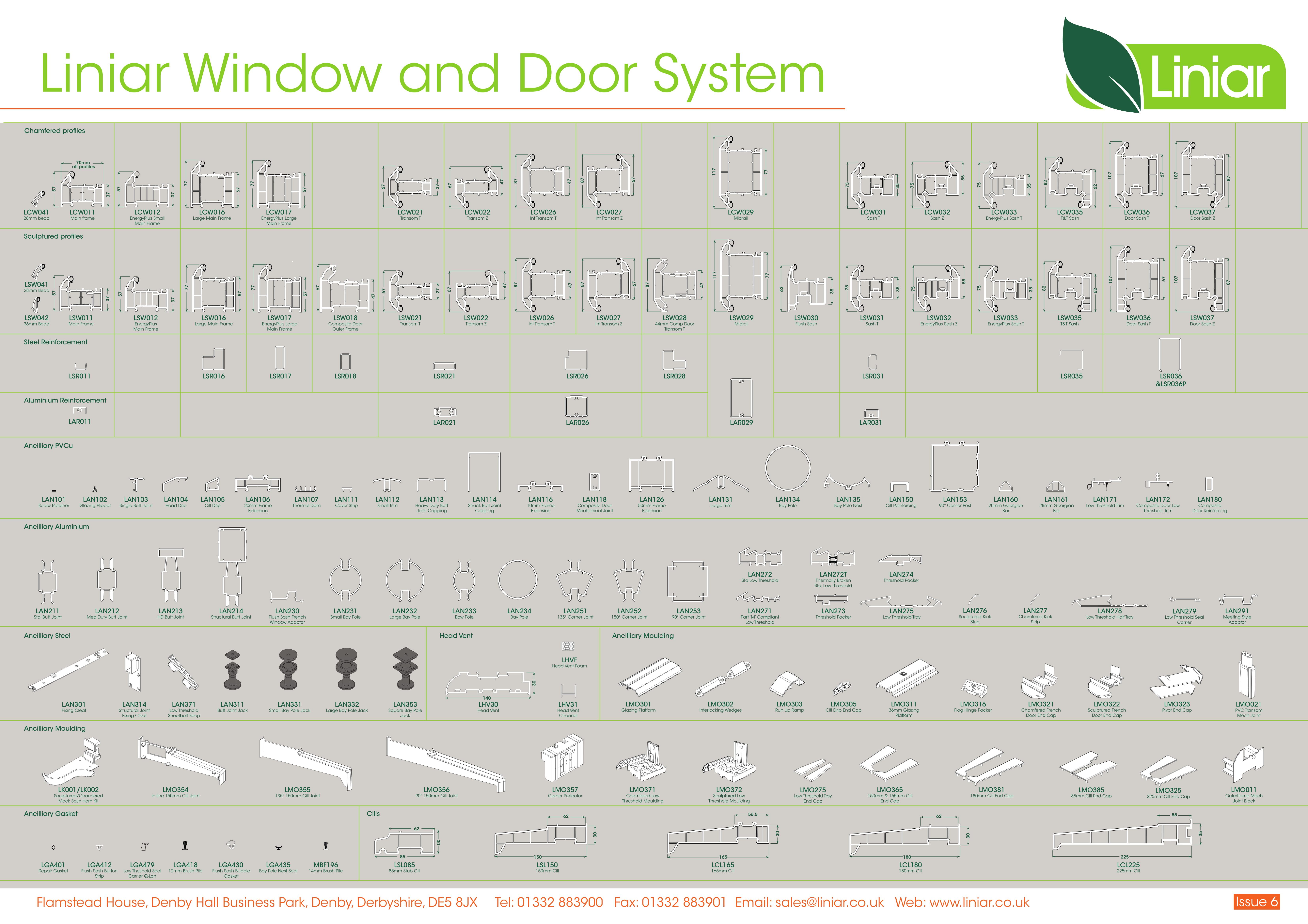 Trade Double Glazing Liniar Window Wall Chart