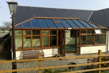 Brown uPVC Conservatory Roof
