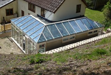 P Shaped Conservatory & Glass Roof