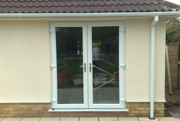 White uPVC French Door - External