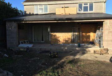 Site for Bi-Fold Door Installation